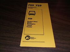 APRIL 1981 CHICAGO RTA ROUTE 729 BARRINGTON BUS SCHEDULE