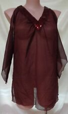 Under Cover Wear size 20 top 3/4 sleeves beaded brown