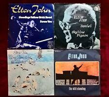 4 tolle Single-Schallplatten von Elton John, Pop, siehe Artikelbeschreibungen