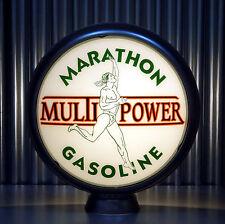 "Marathon Multi-Power Gasoline - 15"" Gas Globe Lenses -  Made by Pogo's Garage"