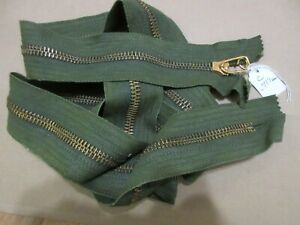 NOS vintage 10.75 inch General USA made zipper separating military