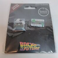 Back to the Future Pin Badge Set Numbered Limited Edition Universal