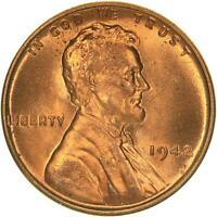 1942 Lincoln Wheat Cent BU Penny US Coin