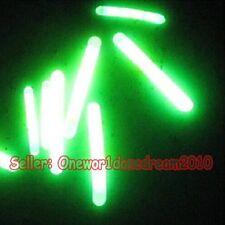 100 pcs Lot Night Fishing Fluorescent Light Float Glow Glowing Stick Φ4.5×37mm