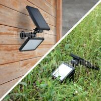 Pack 1/2 x Solar Powered Flood Light Outdoor Yard Landscape Spotlight Wall Lamp