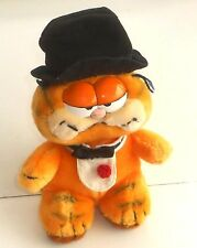 "Vintage 1980's Garfield The Cat - TOP HAT - 10"" Plush Toy - Jim Davis (PT01)"