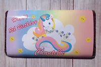 PERSONALISED Unicorn CHOCOLATE BAR WRAPPER fits Galaxy 114g Birthday Gift