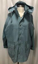 Woolrich Woman Vintage Bluegrass Lined Parka Jacket Coat Removable Hood Size XL