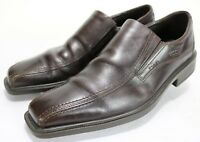 ECCO Men's $140 Bicycle Toe Dress Loafers Shoes EU 46 US 12-12.5 Leather Brown