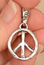 Sterling Silver Peace Pendant with Artisan Dotted Bail Attached, PP1 plus Bail