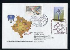 KOSOVO Nr.4 u.a. SONDER-KUVERT 2 Jahre dt. Soldaten im Kosovo !!! (131086)