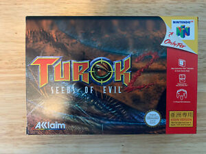 Turok 2 Seeds of Evil Nintendo 64 N64 Asia Asian version ASM import rare CIB NEW