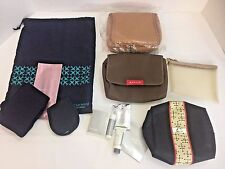 Lot of 4 Delta British American United Airlines Business Class Amenity Bags Kits