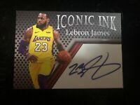 LEBRON James Lakers rookie auto iconic ink auto card facsimile