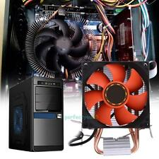 CPU Cooler 7 Blades 8cm Hydraulic Bearing Double Heatpipe Radiator for Intel AMD