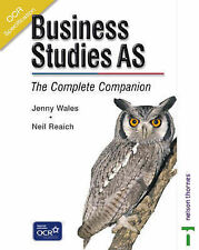 OCR Business Studies AS - The Complete Companion, New, Jenny Wales, Neil Reaich