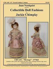 "Cdf1451 15"" French Fashion Costume Pattern"