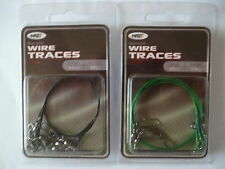 NGT Pkt 3 Specialist Wire Traces Length 40cm BST 20kg Pike or Sea Fishing.