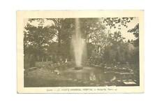 KNOXVILLE TN St Mary's Hospital Grotto Fountain Vtg B&W