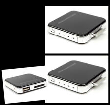 2X 2200MAH PORTABLE EXTERNAL BLACK BATTERY CHARGER USB IPHONE 4S 4 3GS IPOD NANO
