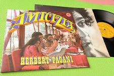 HERBERT PAGANI LP AMICIZIA ORIG ITALIAN 1969 EX POSTER COVER AND INNER ! PROMO