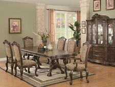 Formal Traditional Brown Cherry Finish 7Pc Dining Set Table Chair Dining Room