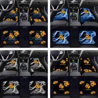 Sunflowers Car Front & Rear Floor Mats Carpet Pads Auto Interior 2/4pc Full Set