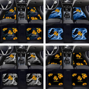 Sunflowers Car Front & Rear Floor Mats Carpet Pads Auto Interior 2/4pc Full Set