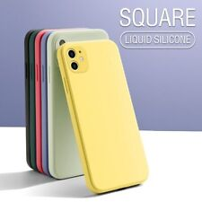 SOFT Thin PHONE Case For iPhone 11 12 XS MAX XR 6 7 Square Liquid Silicone Cover