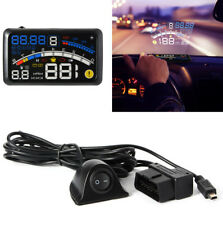 "5.5"" OBD2 Car Digital HUD Head Up Speed Display OBD2 Warning with Non-slip Mat"