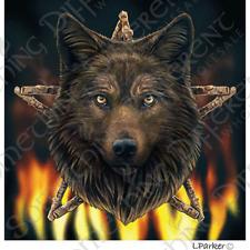 Lisa Parker Greetings Card - Wild Fire Wolf Design - BNIB