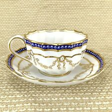 Antique Copeland Spode Porcelain Teacup and Saucer Hand Painted Dainty 8287