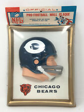 Pro-Football Wall Plaque Chicago Bears, Plastic, Vintage 1965