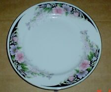 Very Pretty Vintage Chinese Floral Side Plate Pink Purple Flowers