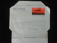 1970 QANTAS 50TH ANNIVERSARY 10c AEROGRAM. UNUSED. VERY COLLECTABLE.