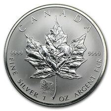 2003 Canada 1 oz Silver Maple Leaf Lunar Sheep Privy - SKU #25809