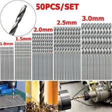 50PCS Titanium Coated HSS High Speed Steel Drill Bits Set Tool 1/1.5/2/2.5/3mm