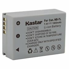 1x Kastar Battery for Canon NB-7L PowerShot G10 G11 G12 SX30 IS