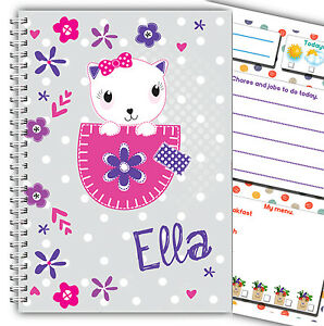A5 MY FIRST PLANNER FOR KIDS/ CHILDREN'S DAILY PLANNER DIARY/ PERSONALISED GIFT