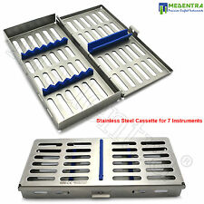 MEDENTRA® Stainless Mesh Tray Cassette for 7 Pcs Instruments Surgical Dental Lab