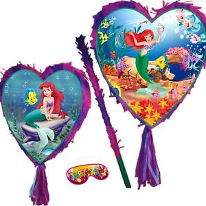 Little Mermaid Pinata Girls Smash Party Fun Princess UK Ariel under the sea New