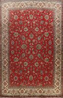 Vintage Floral Tebriz Hand-knotted Over Size Area Rug Traditional Oriental 11x14