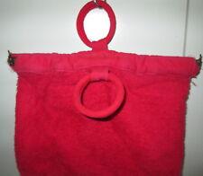 Vintage Paramount Sydney Bag Towelling Metal Tri Top Handles Toilet Knitting