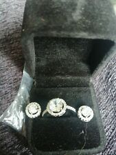 Sterling silver ring and earring set