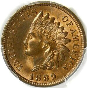💥❤️🔥❤️🔥☄️PCGS MS65 RB 1889 INDIAN HEAD CENT