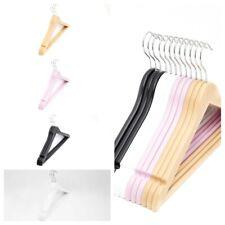 12-24pcs Large Heavy Duty Plastic coat hangers with skirt trouser look hooks