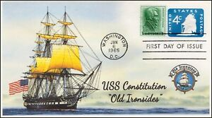 AO-U549-2,1965, Old Ironsides, First Day Cover, Add-on Cachet, USS Constitution,