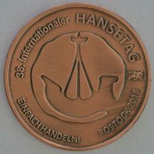 Hansetag Rostock 2018 mit Wappen Greifswald, Wismar, Stralsund, Anklam, Demmin