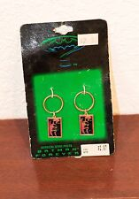 1995 DC COMICS BATMAN FOREVER COWL & RIDDLER QUESTION MARK PAIR EARRINGS MOC