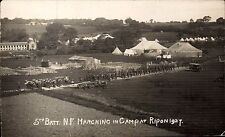 Ripon. 5th Battalion Northumberland Fusiliers Marching in Camp 1927.